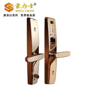 i2016F-玫瑰金指纹密码锁